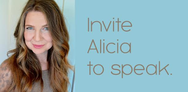 invite Alicia to speak